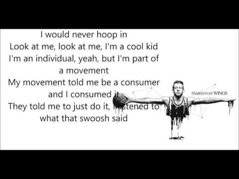 Macklemore | Wings [lyrics]