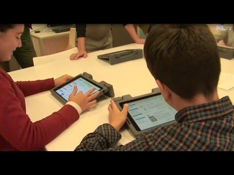 Des tablettes numériques au collège de Linxe
