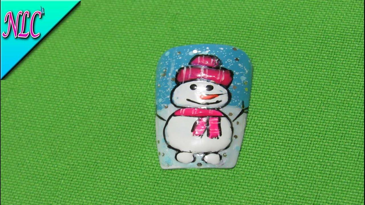 Decoración de uñas muñeco de nieve - Decoracion para navidad ...