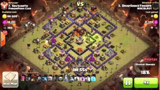 Clash of Clans   Xtreme Mac Blast Attack ! GoWiLaLoon ! Th10 vs Th10 3 Stars!