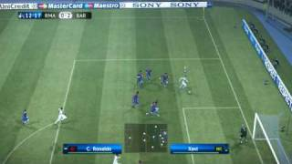 UEFA Champions League Barcelona vs Real Madrid 2009/2010 PES 2010 HD 1/2