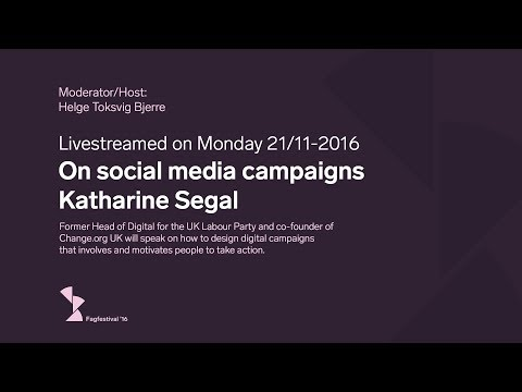 Katharine Segal - On social media campaigns - Fagfestival '16