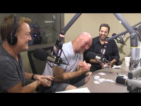 David Blaine does David Blaine things in studio with Tolbert and Lund