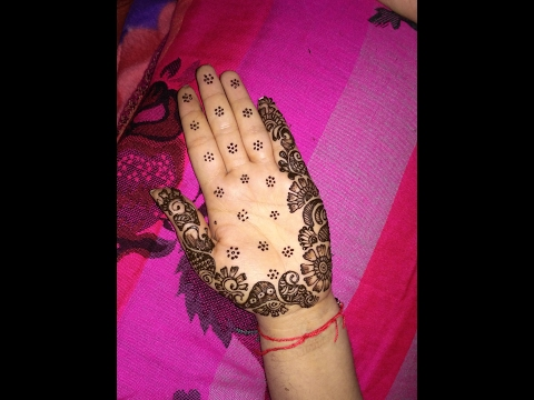 Easy Simple And Latest  Arabic Heena Mehndi Designs For Hands 2017
