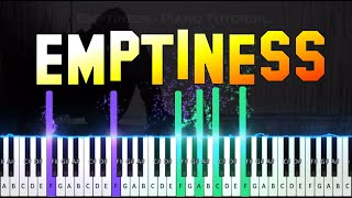 ♫ EMPTINESS || 🎹 Piano Tutorial + Sheet Music (with English Notes) + MIDI