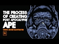 Creating Vector of Post Apocalypse ape using Adobe Illustrator