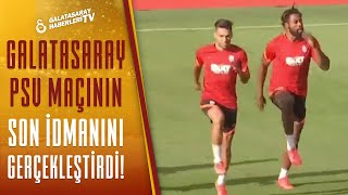 Galatasaray, PSV Maçının Taktiğini Çalıştı! Antrenmandan Canlı Görüntüler (PSV -