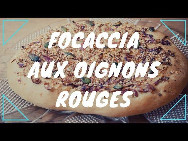 Focaccia aux oignons rouges {végane}