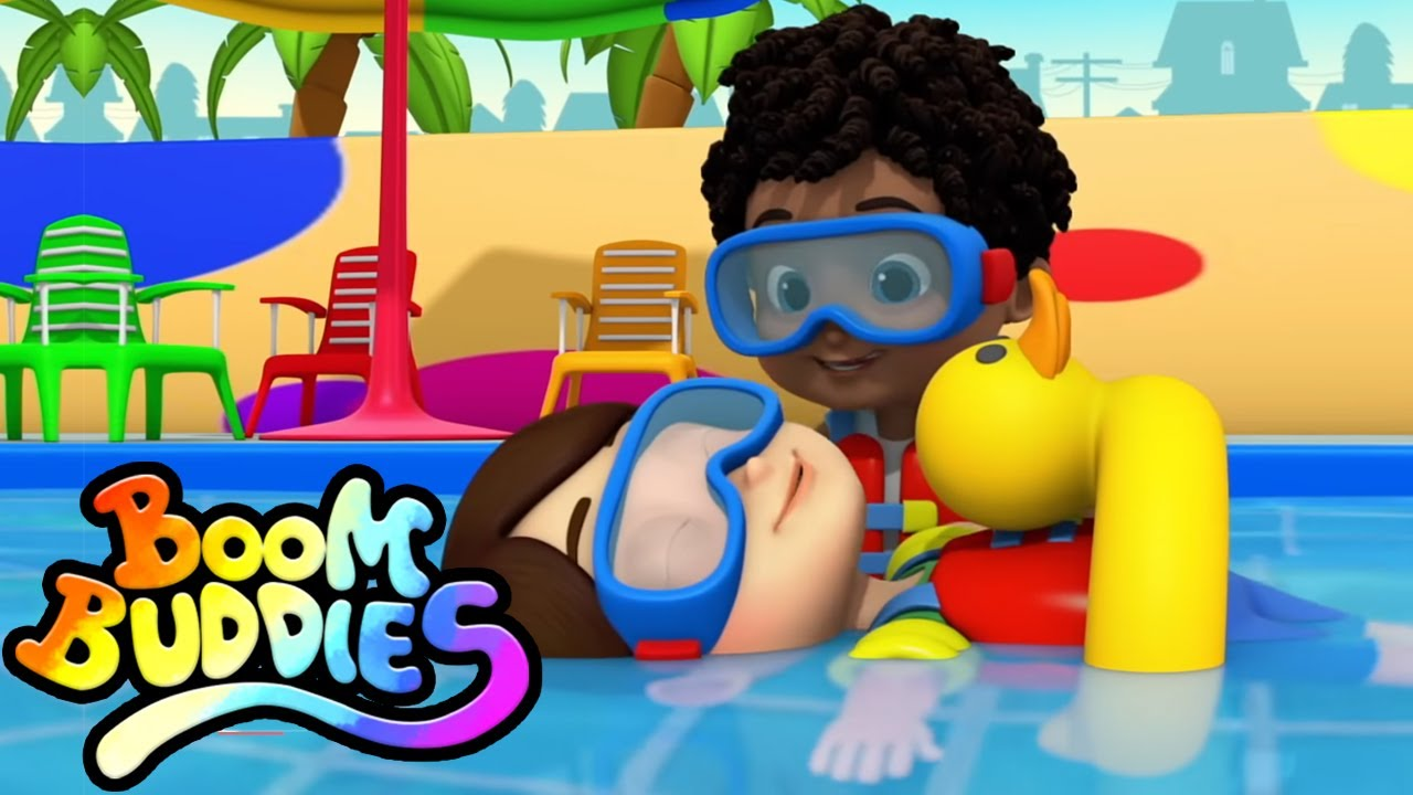 Canción de natación | Rimas para niños | Boom Buddies Español | Educación | Videos preescolares
