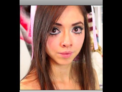 Look de Muñeca Tierna Gyaru / Gyaru Big Eyes Makeup Tutorial