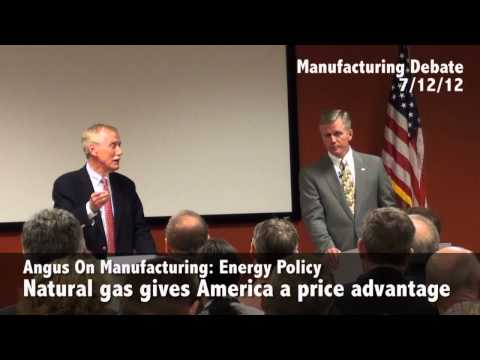 Angus King for US Senate - Manufacturing Debate (Highlights)