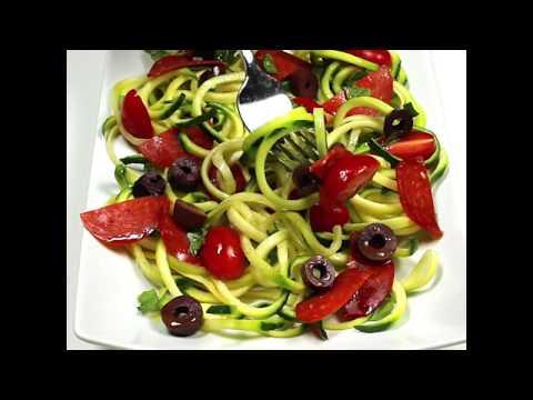 Low Carb Italian Zucchini 'Pasta' Salad