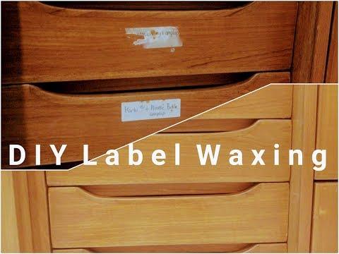 DIY Waxing Labels & Restore Vintage Furniture