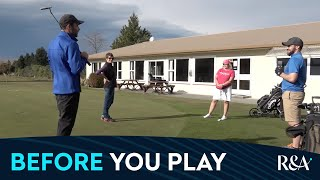 Golf and COVID Quick Guides: Before you play