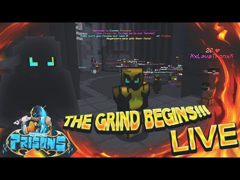 THE GRIND BEGINS!!! 🔥 | COSMIC PRISONS | LIVESTREAM