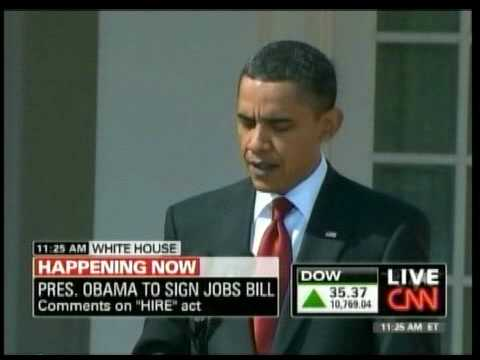 Obama Signs HIRE Act (Jobs Bill)
