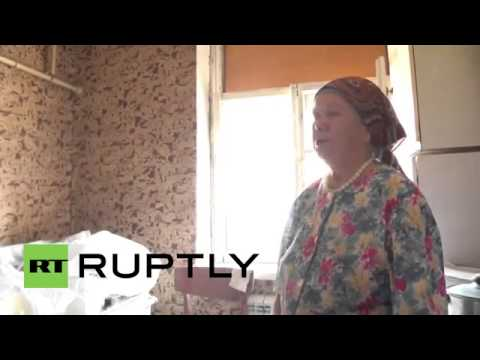 Ukraine  Donetsk homes left devastated by shelling