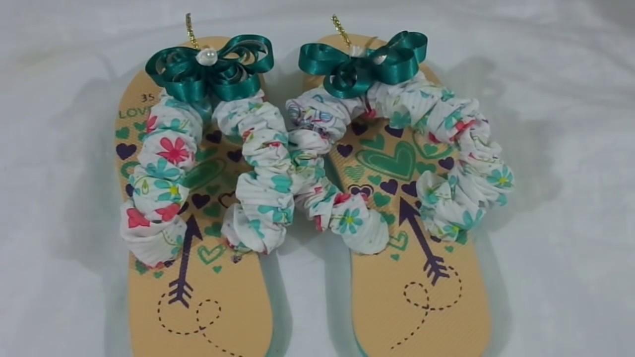 Paso a paso de como decorar unas sandalias en tela y for Como decorar unas