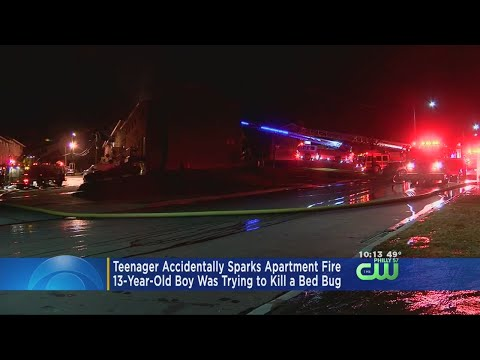 Teen Trying To Kill Bed Bug Causes $300K Fire In Cincinnati