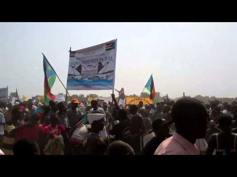 South Sudan tribe Dance during Independence