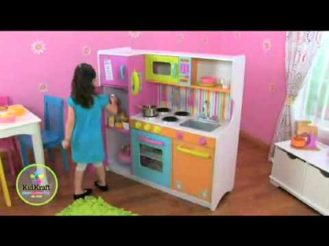 Kidkraft Wooden Play Kitchen kidkraft 53100 big and bright childrens wooden play toy kitchen at