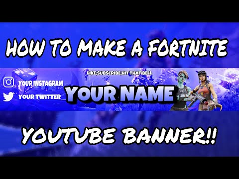 How To Make A Fortnite Youtube Banner Oh Phone!! | TUTORIAL