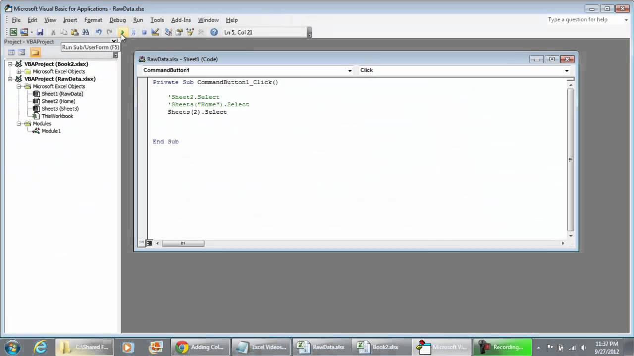 How to call different worksheets or books using VBA Programming ...