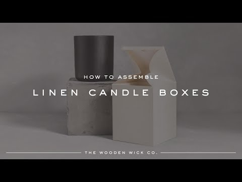 Linen Candle Box Assembly   THE WOODEN WICK CO.