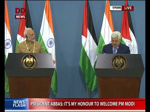 Exchange of agreements between India and Palestine and joint