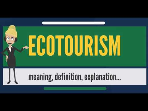 What is ECOTOURISM? What does ECOTOURISM mean? ECOTOURISM meaning, definition & explanation