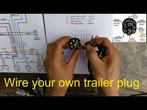 How to wire a trailer plug - 7 pin (diagrams shown) - YouTube J Wiring Diagram Philips on