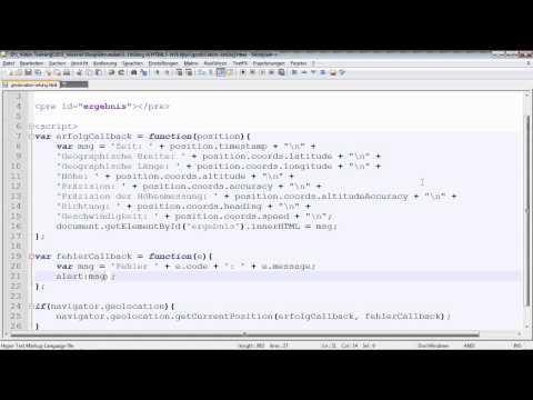 Die Geolocation-API - HTML5 und CSS3
