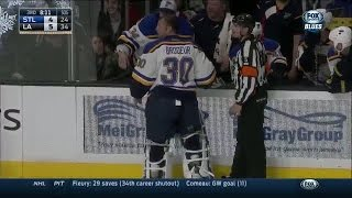 Brodeur loses puck in his equipment