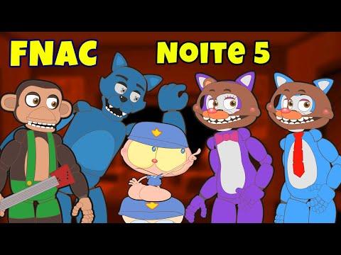 Mongo e Drongo em Five Nights At Candy's - Noite 5 - FNAC em desenho animado