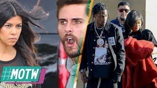 Kourtney Kardashian Furious With Scott Disick, Travis Scott SUED For Being With Kylie   MOTW