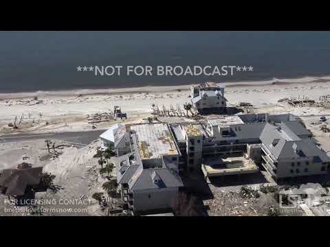 10 12 18 Mexico Beach, FL Helicopter Footage Extreme Damage