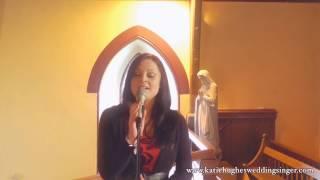 Katie Hughes Wedding Singer performing