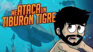 ¡ME ATACA UN TIBURÓN TIGRE! ⭐️ Stranded Deep   iTownGamePlay