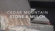Cedar Mountain Stone Mulch Youtube