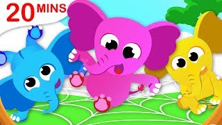 One Elephant Went Out to Play | 5 Little Spiders | Nursery Rhymes by Little Angel