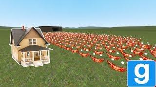 SCARY SCP ARMY VS. HOUSE! - Garry's mod sandbox
