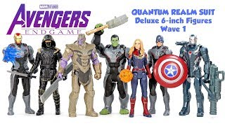 Avengers Endgame Quantum Realm Suit Deluxe 6-inch Figures Wave 1 Iron Man Captain America Ronin Hulk