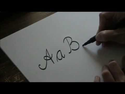 write cursive letters - A B C handwriting for beginners