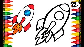 Toy Rocket to color and draw Learn Colors for kids 🚀Funny coloring vídeos 🚀Art colorkids
