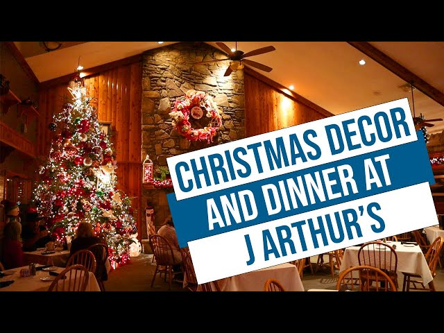 Christmas Decorations and Dinner at J Arthur's in Maggie Valley NC