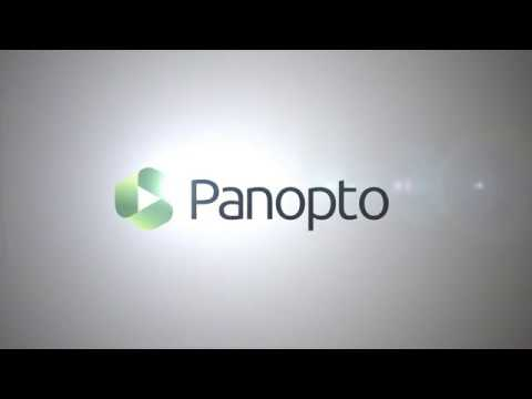 Panopto Video Platform - 3 Minute Introduction