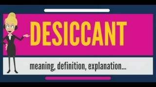 What is DESICCANT? What does DESICCANT mean? DESICCANT meaning, definition & explanation