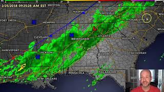 Rain Update for today's race in Atlanta. #nascar