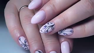 Укрепление натуральных ногтей гелем| Популярный дизайн «Сахарные бутончики»💐
