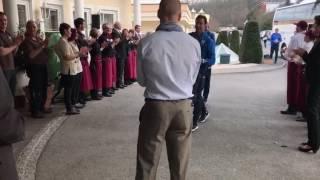 Сборная Украины прибыла в отель Avita